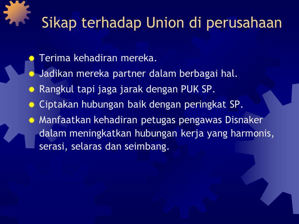 Sikap terhadap Union di perusahaan