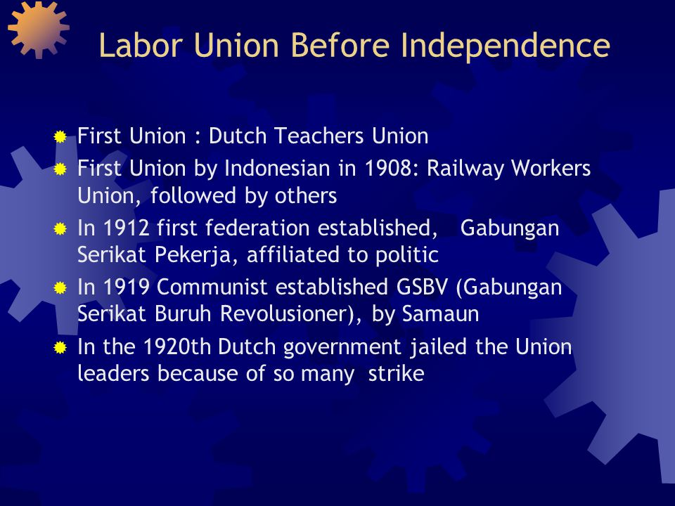 Labor Union Before Independence