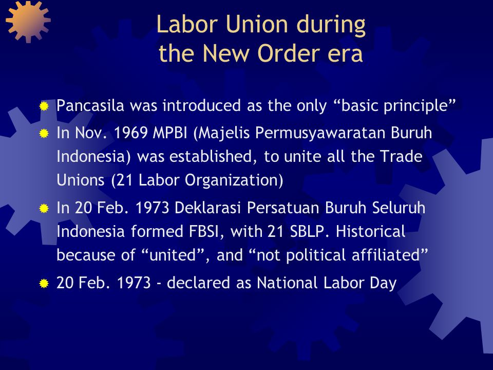 Labor Union during the New Order era
