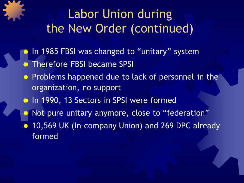Labor Union during the New Order (continued)