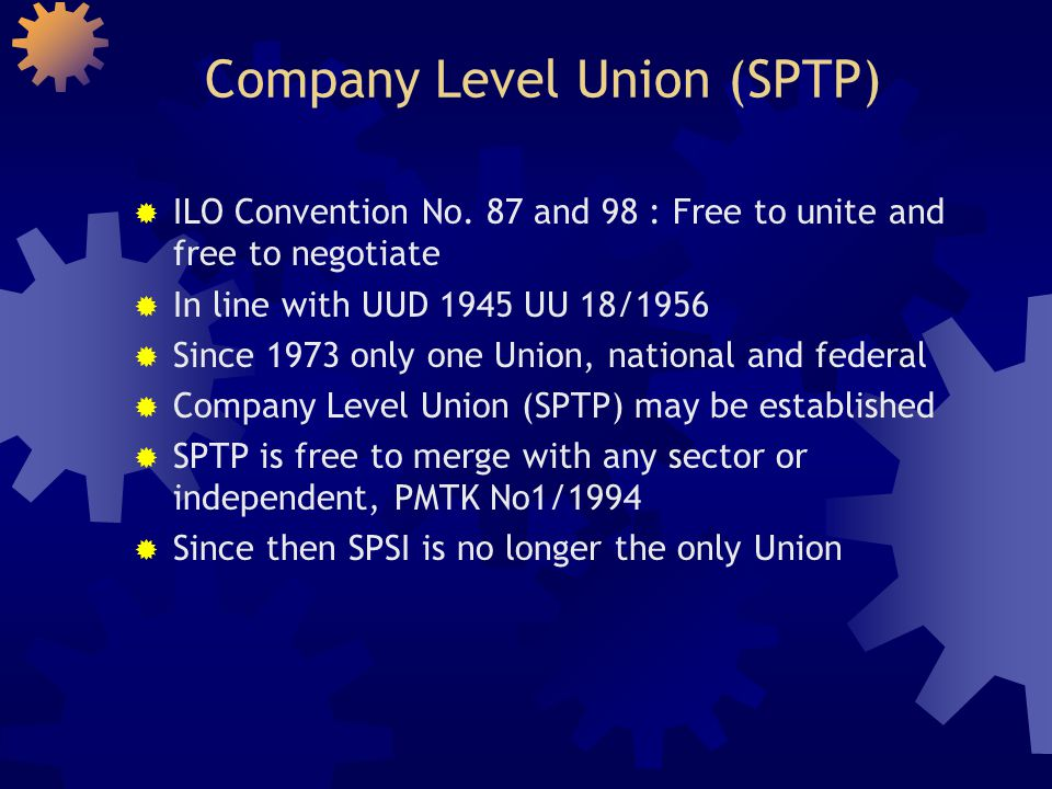 Company Level Union (SPTP)