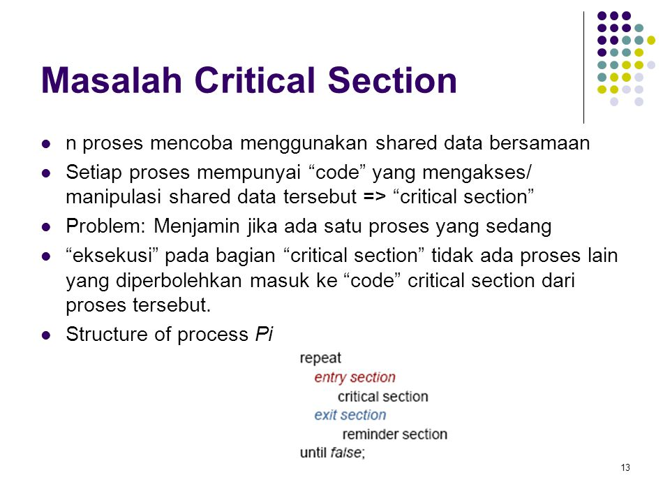Masalah Critical Section
