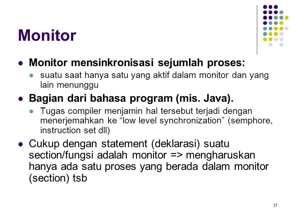 Monitor Monitor mensinkronisasi sejumlah proses: