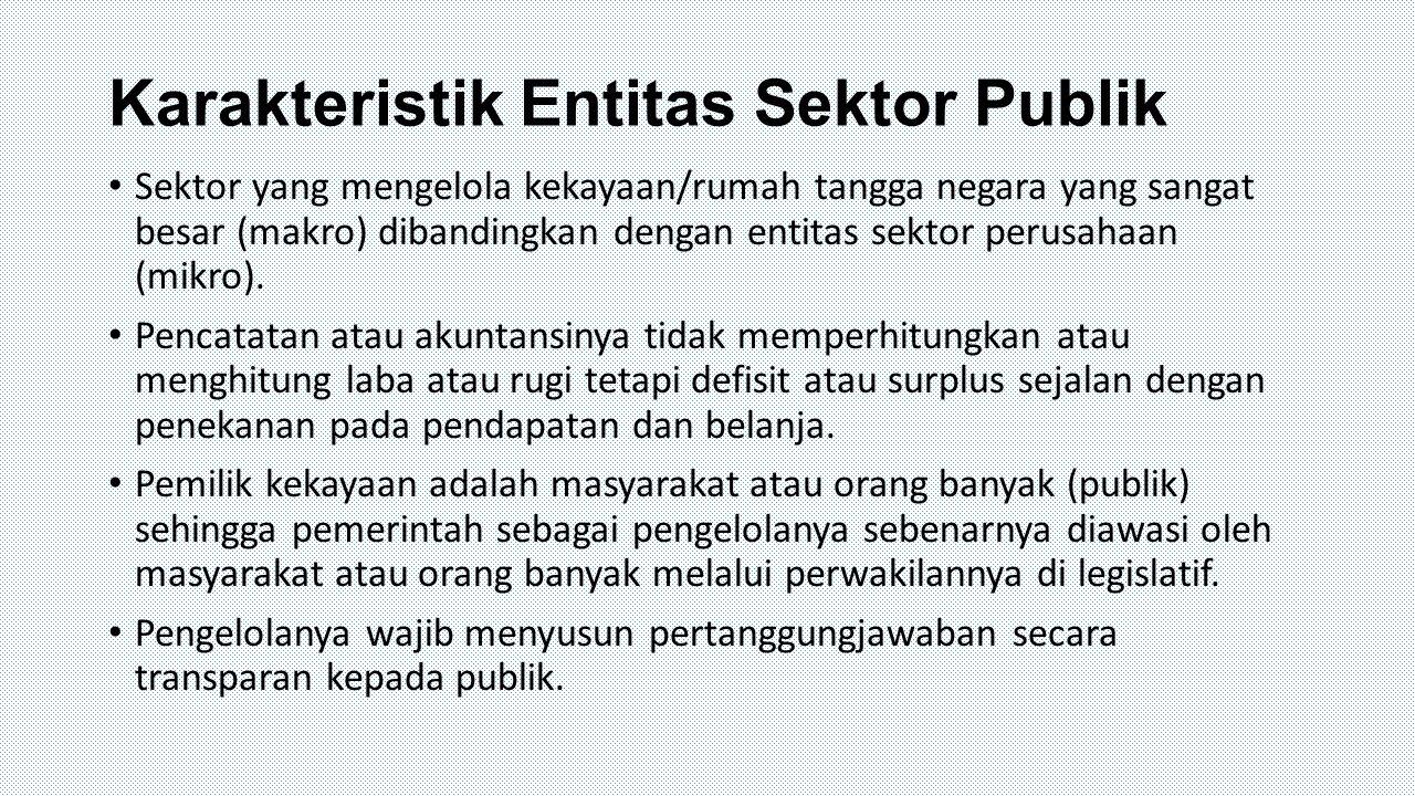 Karakteristik Entitas Sektor Publik