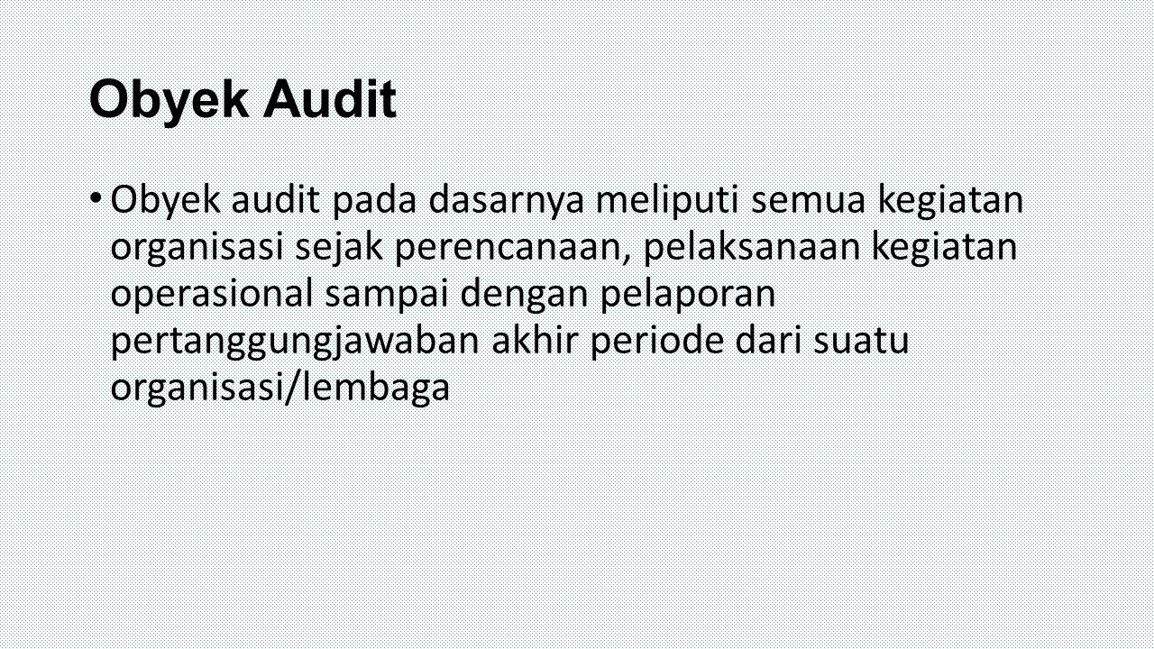 Obyek Audit