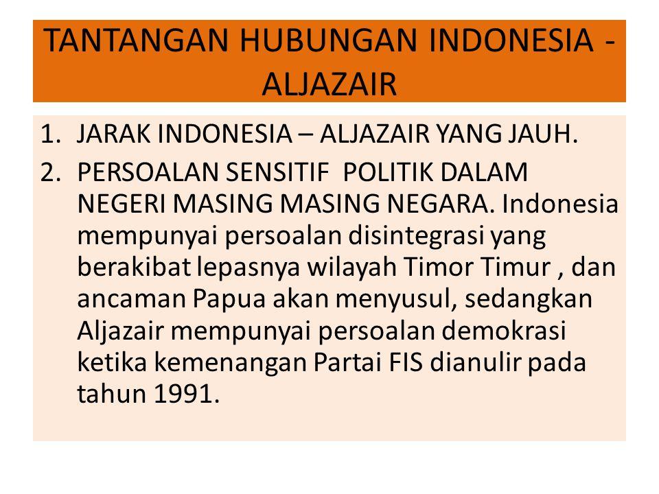 TANTANGAN HUBUNGAN INDONESIA - ALJAZAIR