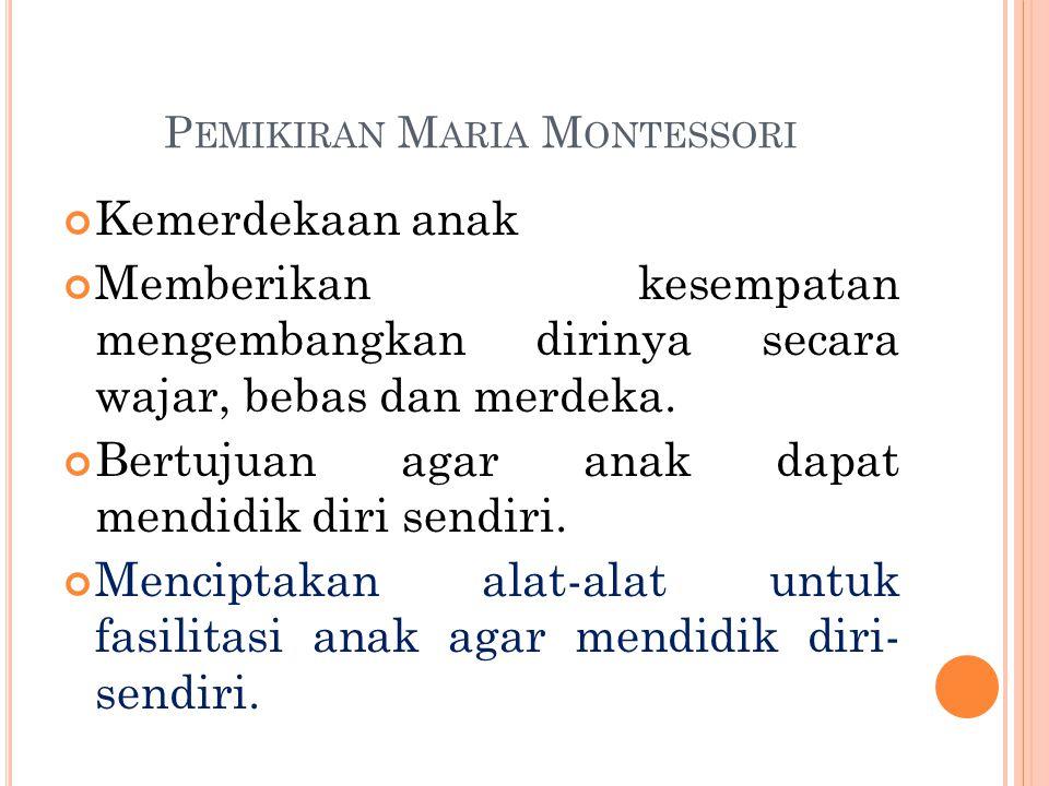 Pemikiran Maria Montessori