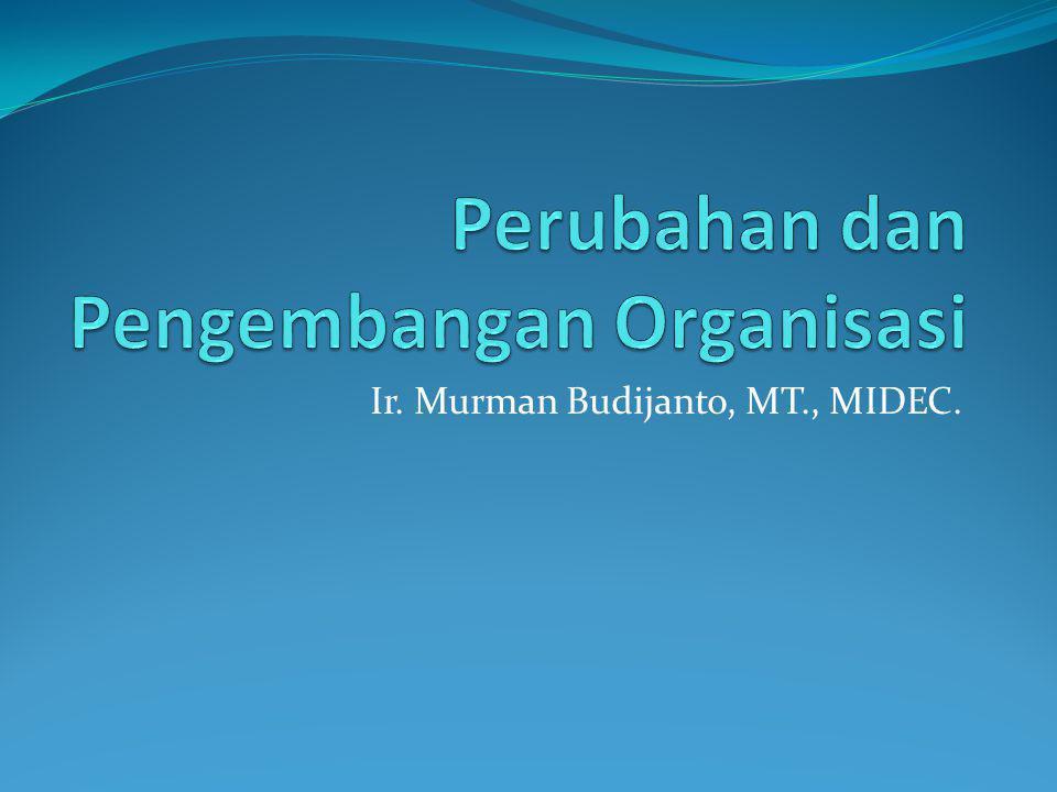 Perubahan dan Pengembangan Organisasi