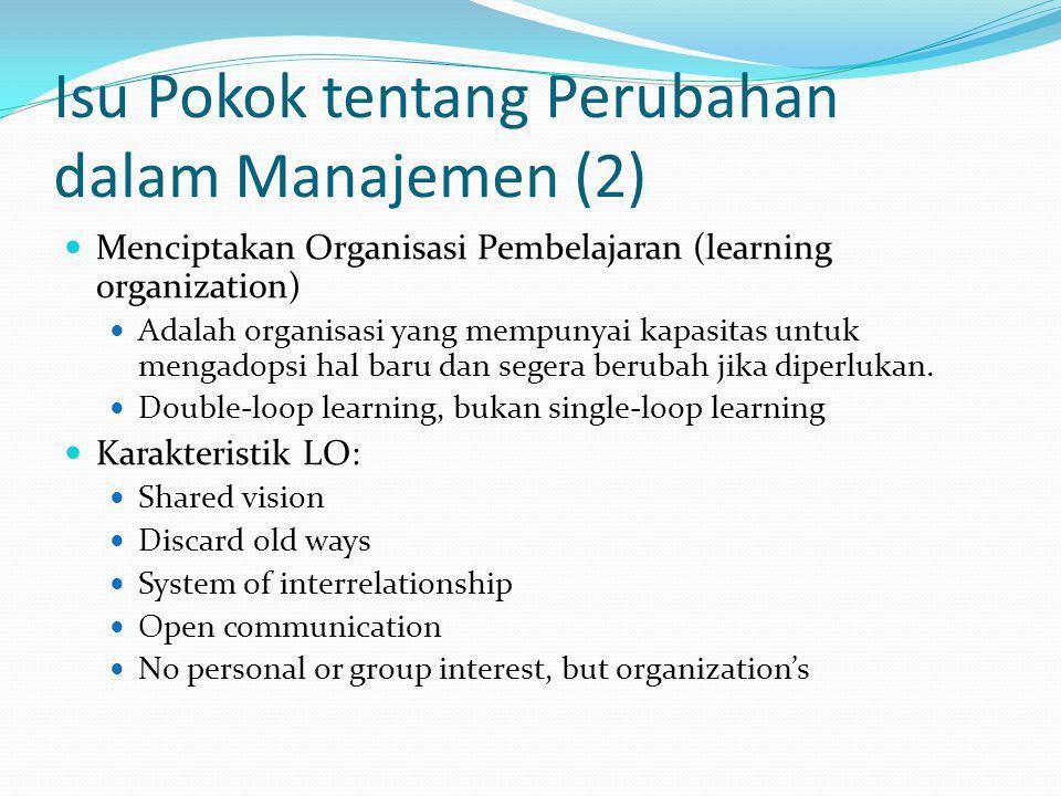 Isu Pokok tentang Perubahan dalam Manajemen (2)