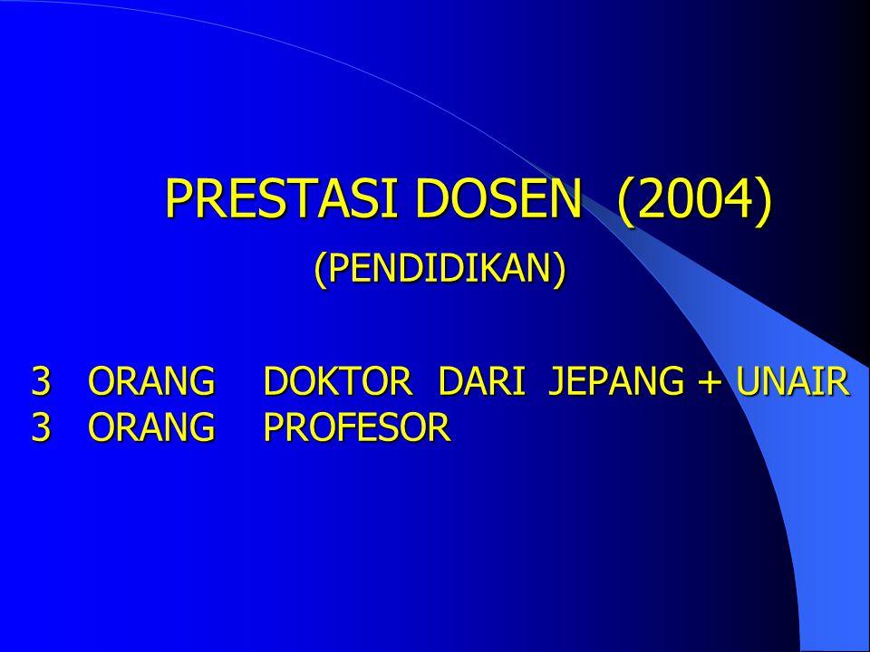 PRESTASI DOSEN (2004) (PENDIDIKAN) 3 ORANG DOKTOR DARI JEPANG + UNAIR 3 ORANG PROFESOR
