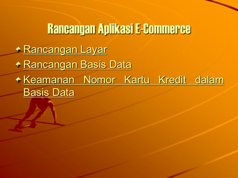 Rancangan Aplikasi E-Commerce