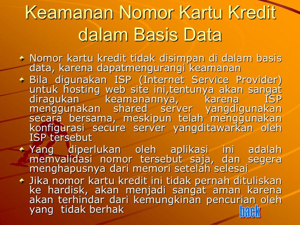 Keamanan Nomor Kartu Kredit dalam Basis Data