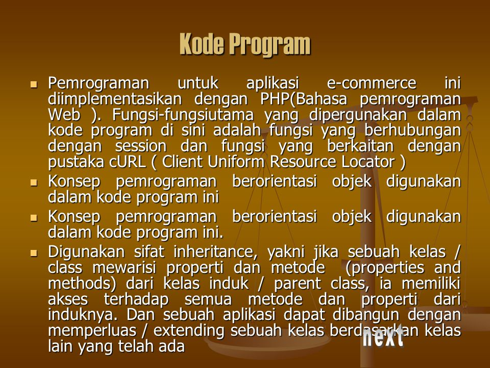 Kode Program