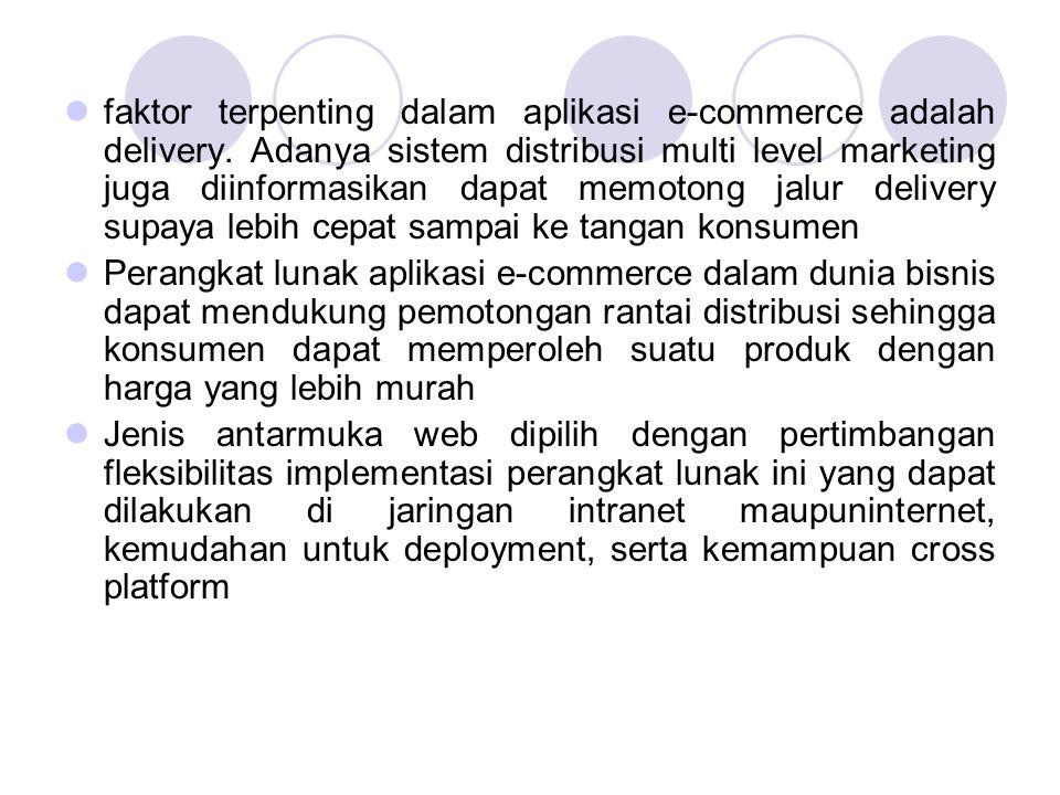 faktor terpenting dalam aplikasi e-commerce adalah delivery