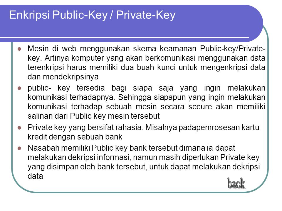 Enkripsi Public-Key / Private-Key