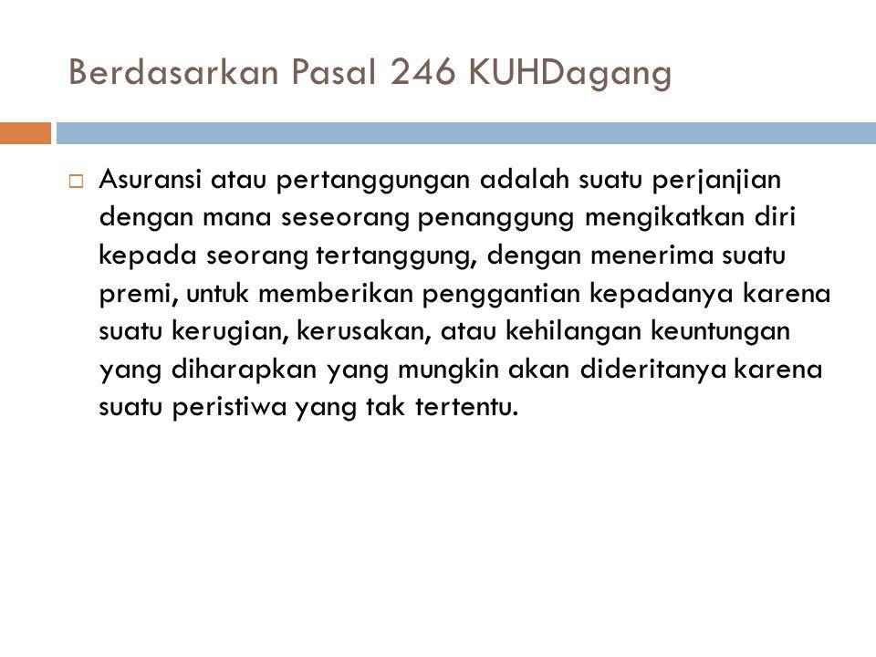 Berdasarkan Pasal 246 KUHDagang