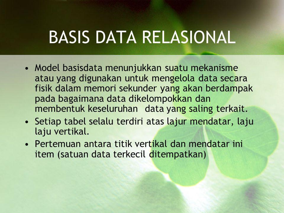 BASIS DATA RELASIONAL