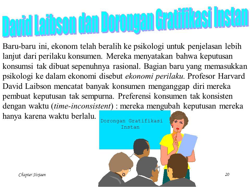 David Laibson dan Dorongan Gratifikasi Instan