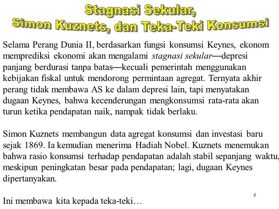 Simon Kuznets, dan Teka-Teki Konsumsi