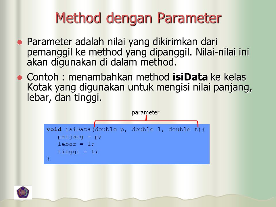 Method dengan Parameter