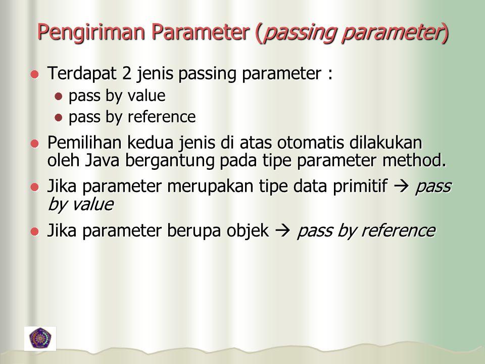 Pengiriman Parameter (passing parameter)