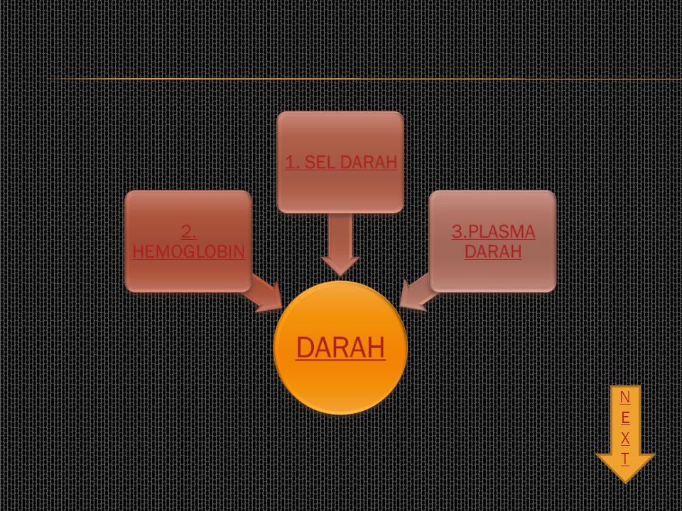 DARAH 2. HEMOGLOBIN 1. SEL DARAH 3.PLASMA DARAH NEXT