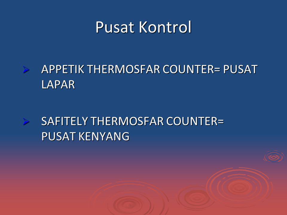 Pusat Kontrol APPETIK THERMOSFAR COUNTER= PUSAT LAPAR