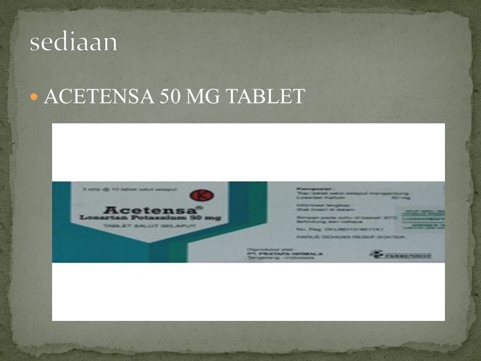 sediaan ACETENSA 50 MG TABLET