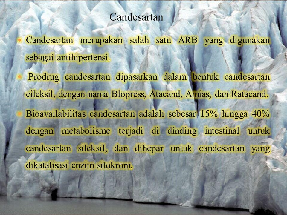 Candesartan Candesartan merupakan salah satu ARB yang digunakan sebagai antihipertensi.