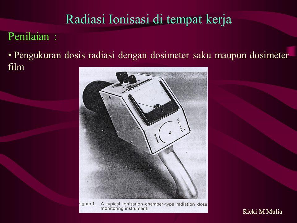Radiasi Ionisasi di tempat kerja
