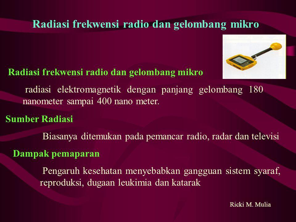 Radiasi frekwensi radio dan gelombang mikro