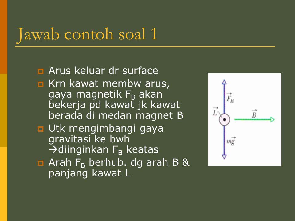 Jawab contoh soal 1 Arus keluar dr surface
