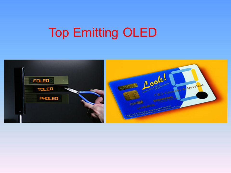 Top Emitting OLED