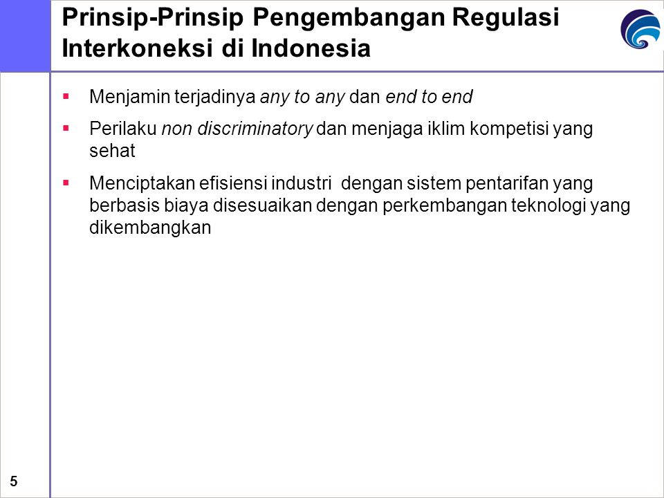 Prinsip-Prinsip Pengembangan Regulasi Interkoneksi di Indonesia