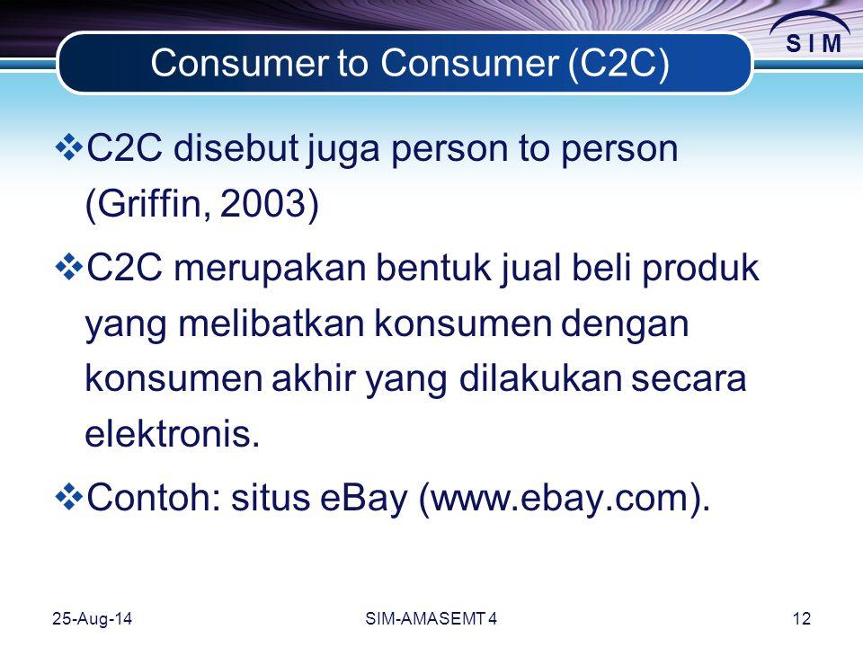 Consumer to Consumer (C2C)