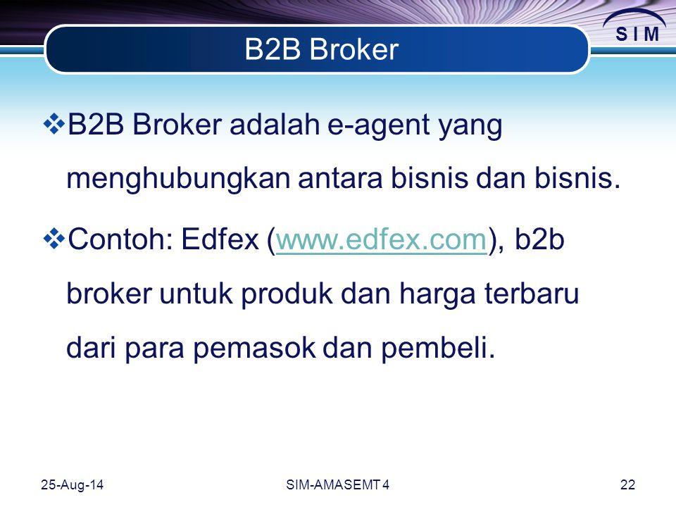 B2B Broker adalah e-agent yang menghubungkan antara bisnis dan bisnis.