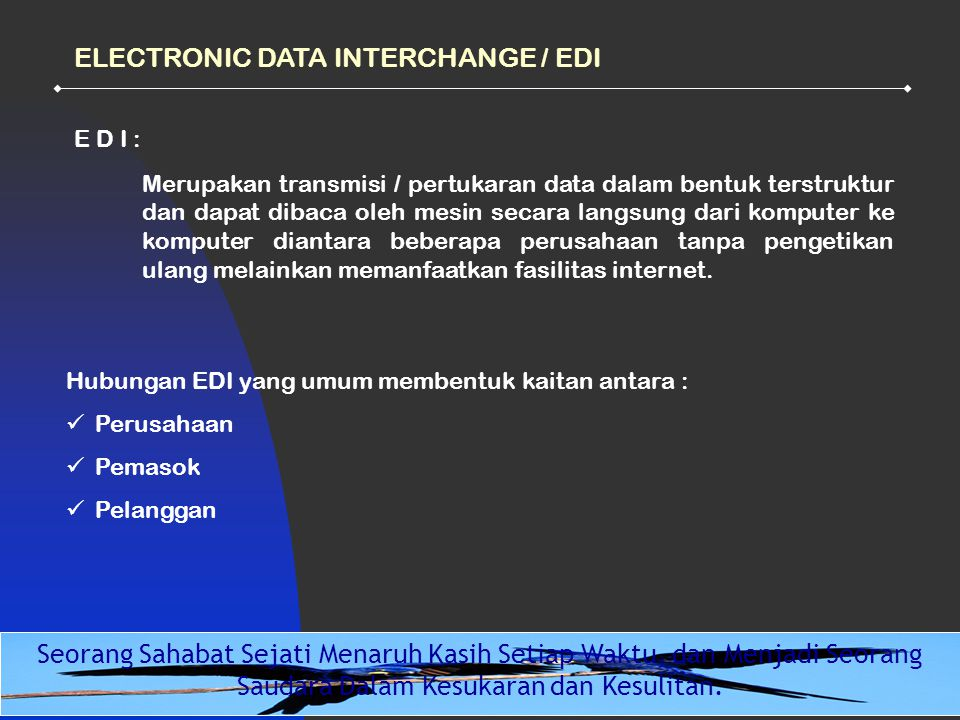 ELECTRONIC DATA INTERCHANGE / EDI