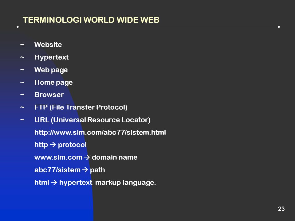 TERMINOLOGI WORLD WIDE WEB