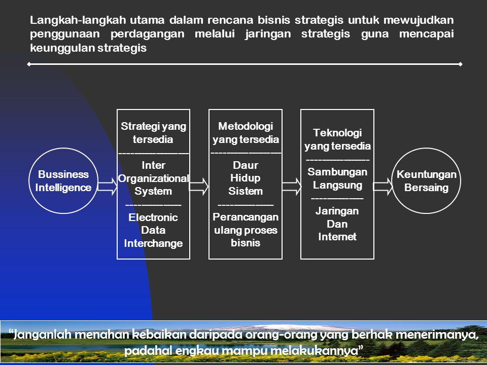 Langkah-langkah utama dalam rencana bisnis strategis untuk mewujudkan penggunaan perdagangan melalui jaringan strategis guna mencapai keunggulan strategis