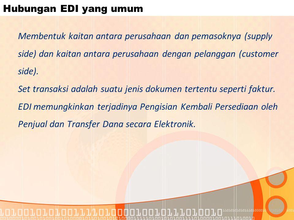 Hubungan EDI yang umum
