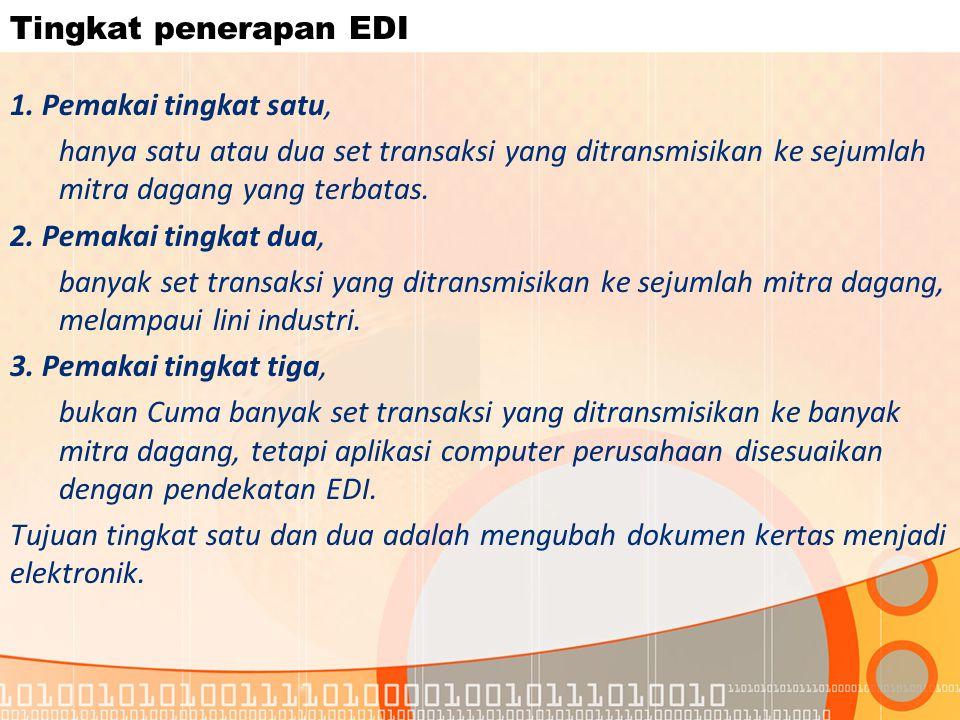 Tingkat penerapan EDI