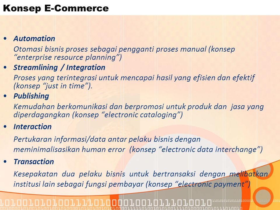 Konsep E-Commerce Automation
