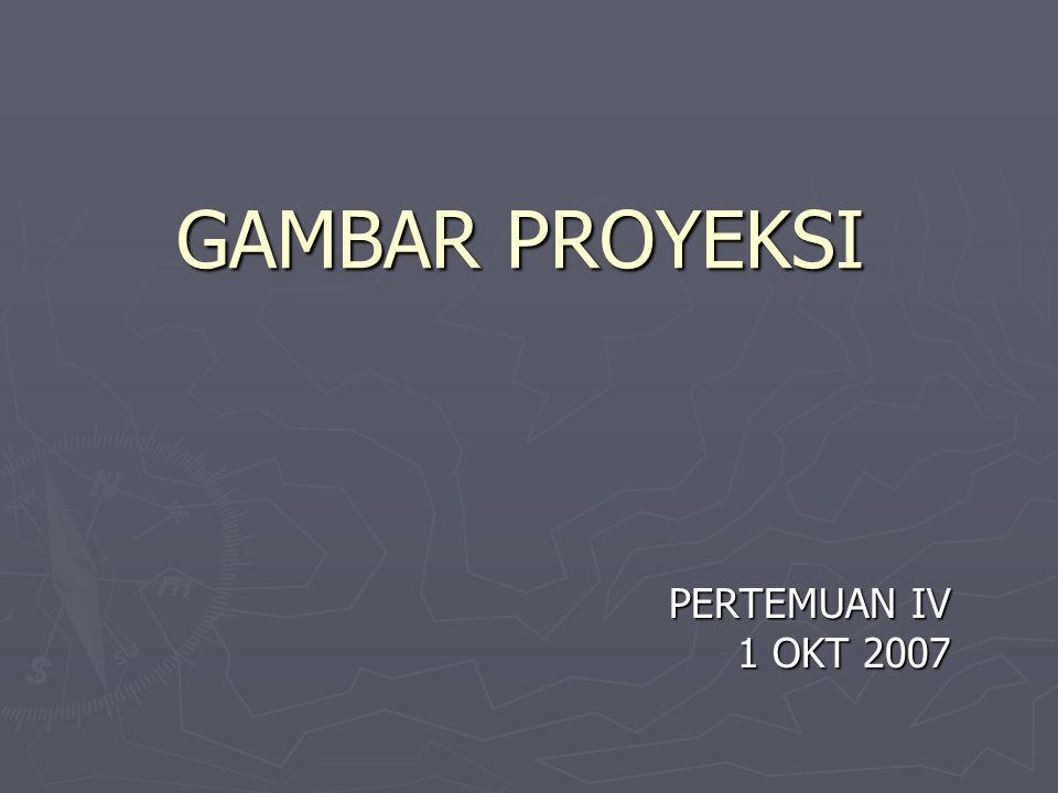 GAMBAR PROYEKSI PERTEMUAN IV 1 OKT 2007