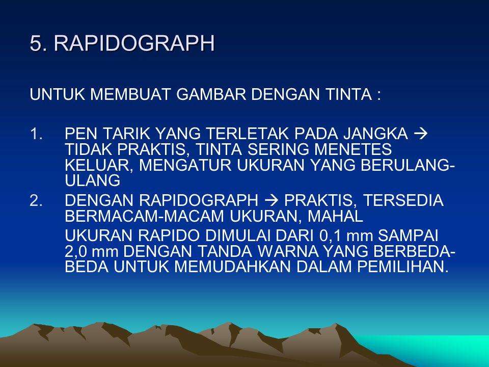 5. RAPIDOGRAPH UNTUK MEMBUAT GAMBAR DENGAN TINTA :