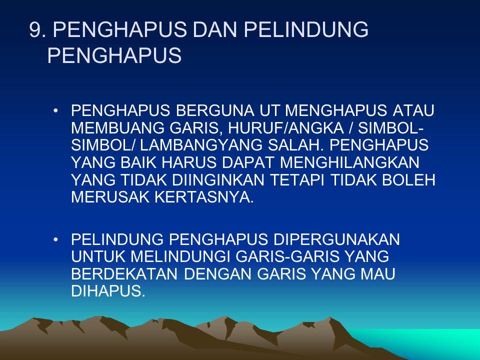 9. PENGHAPUS DAN PELINDUNG PENGHAPUS