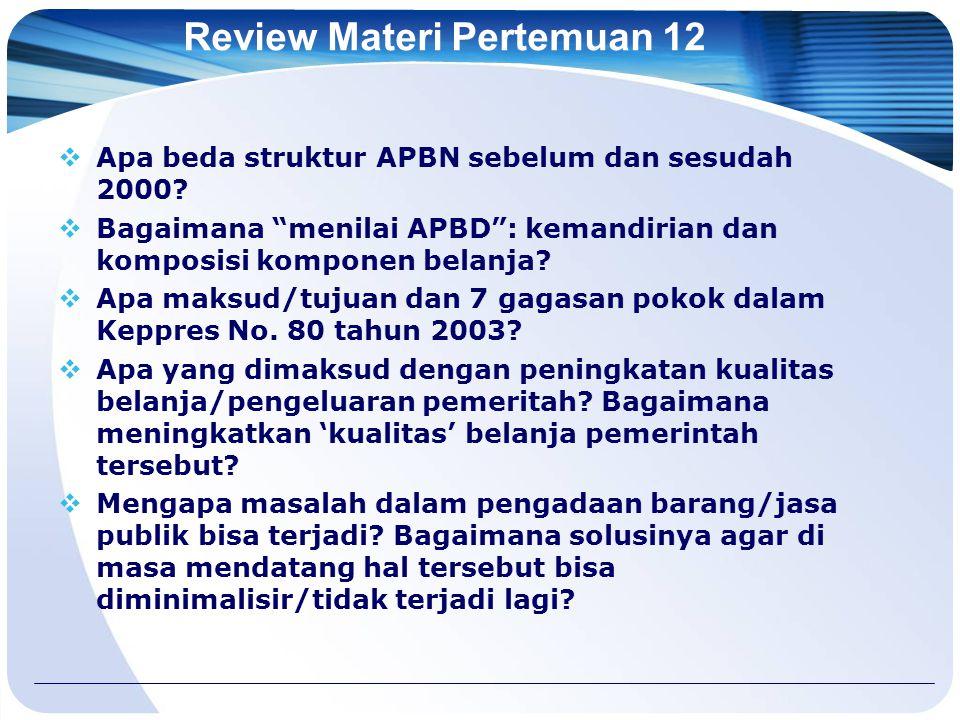 Review Materi Pertemuan 12