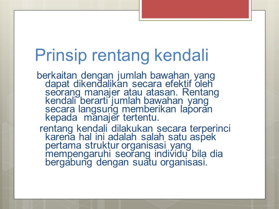 Prinsip rentang kendali