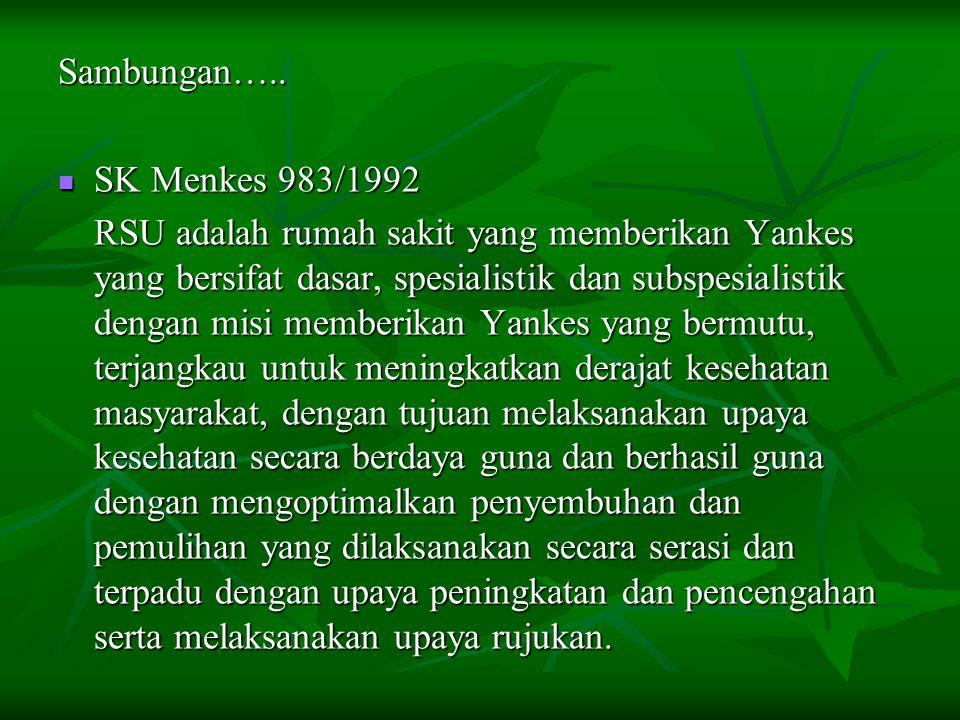 Sambungan….. SK Menkes 983/1992.