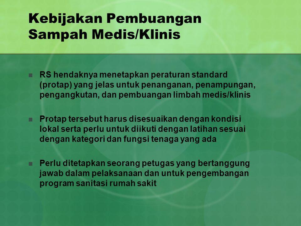 Kebijakan Pembuangan Sampah Medis/Klinis