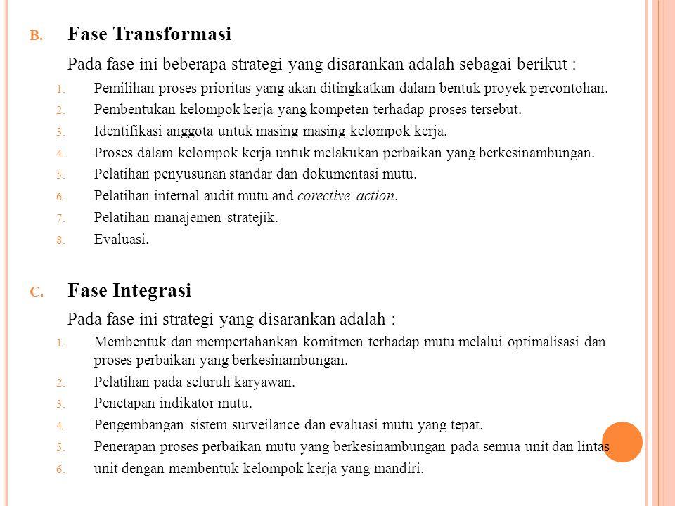 Fase Transformasi Fase Integrasi